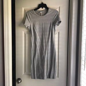 Gray Stretch T Shirt Dress